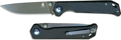 Kizer Begleiter Vanguard V4458A1 EDC Liner Lock Folder Gray Ti Drop Point with Black G10