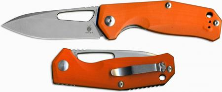 Kizer V4461A2 Vanguard Kesmec with VG10 Blade and Orange G10 Handle, Ki-V4461A2