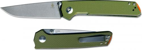 Kizer Domin Vanguard V4516A2 Azo EDC Stonewash Drop Point OD Green G10 Liner Lock Folder