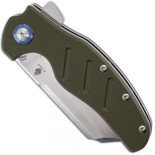 Kizer Vanguard c01c XL Sheepdog V5488C2 - Chris Conaway - Satin 154CM Cleaver Style - Green G10 - Liner Lock Flipper Folder
