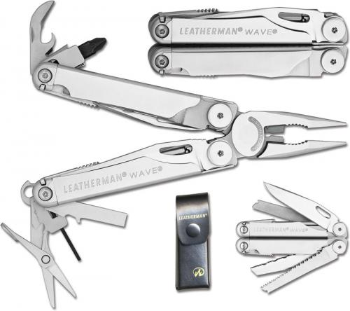 Leatherman New Wave Tool with Leather Sheath, LE-830037