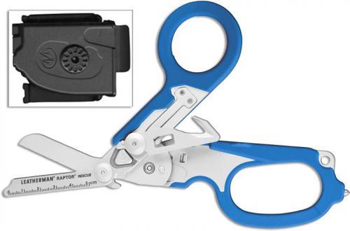 Leatherman Raptor Tool 832344 6 Function Medical Shears Multi Tool Blue GFN Grips
