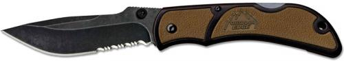 Outdoor Edge Chasm Knife, Part Serrated Coyote Brown, OE-CHC33S