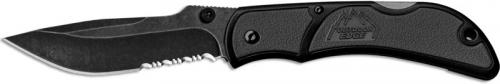 Outdoor Edge Chasm Knife, Part Serrated Gray, OE-CHY33S