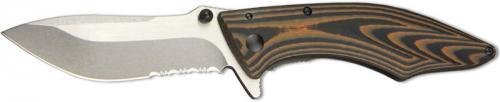 Outdoor Edge Conquer Knife, Medium Part Serrated, OE-CQ30S