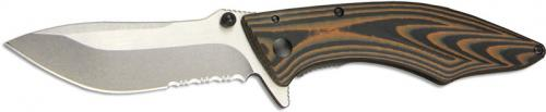 Outdoor Edge Conquer Knife, Part Serrated, OE-CQ35S