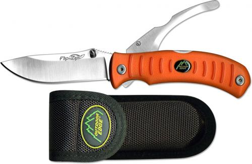 Outdoor Edge Knives: Outdoor Edge Flip N Zip 2 Blade, Blaze, OE-FZB20