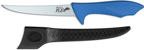 Outdoor Edge RF-60C Reel-Flex Fillet Knife Jerry Hossom 6.0 Inch Blade Blue TPE Handle
