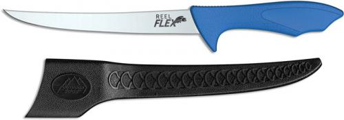 Outdoor Edge RF-75C Reel-Flex Fillet Knife Jerry Hossom 7.5 Inch Blade Blue TPE Handle