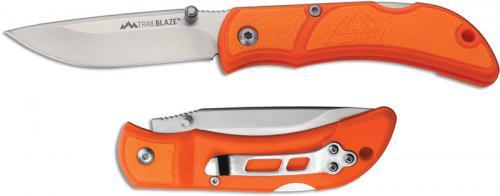 Outdoor Edge Trailblaze Knife TB-25 - 2.5 Inch Drop Point - Orange TPR - EDC Lock Back Folder