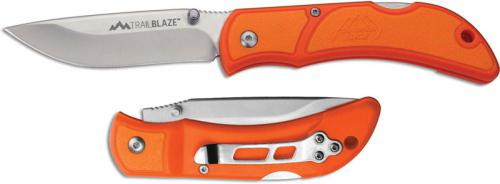Outdoor Edge Trailblaze Knife TB-33 - 3.3 Inch Drop Point - Orange TPR - EDC Lock Back Folder