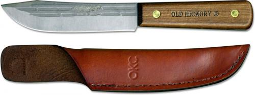 Old Hickory Hunting Knife 7026 - Carbon Steel Clip Point Fixed Blade - Hardwood Handle - USA Made