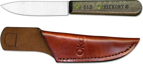 Old Hickory Bird and Trout Knife 7027 - Carbon Steel Drop Point Fixed Blade - Hardwood Handle - USA Made