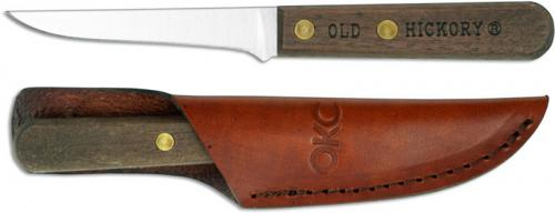 Old Hickory Mini Filet Knife 7028 - Carbon Steel Drop Point Fixed Blade - Hardwood Handle - USA Made