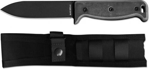 Ontario 7500PC Black Bird SK-5 Noir Paul Scheiter Bushcraft Style Black Spear Point with G10 Handle USA Made