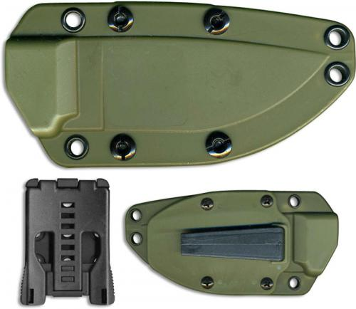 Ontario RAT-3 8622 OD Green Kydex Sheath with Boot Clip and Tek-Lok
