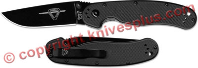 Ontario RAT II Folder, Black Blade, QN-8861