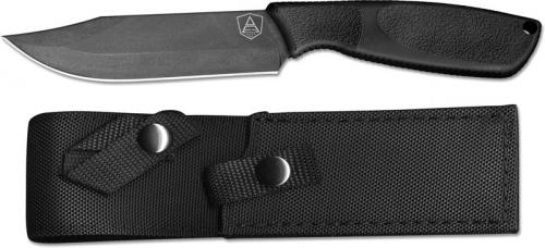 Ontario 9710 SP A Survival Knife Black High Carbon Steel Fixed Blade Synthetic Rubber Handle USA Made