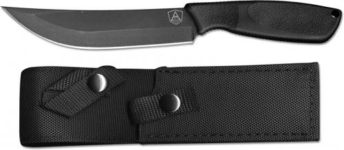 Ontario 9711 SP A Combat Knife Black High Carbon Steel Upswept Fixed Blade Synthetic Rubber Handle USA Made