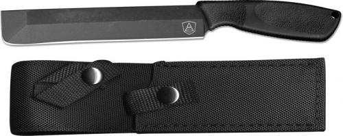 Ontario 9712 SP A Machete Black High Carbon Steel Fixed Blade Synthetic Rubber Handle USA Made