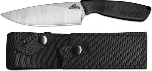 Ontario 9717 HP Camp Knife Stainless Steel Drop Point Fixed Blade Synthetic Rubber Handle USA Made
