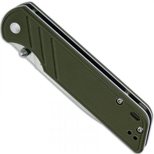 QSP Parrot Knife QS102-B - Satin 440C Spear Point - OD G10 - Liner Lock Folder