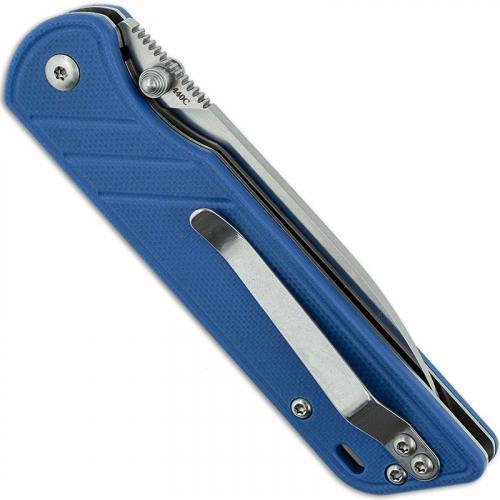 QSP Parrot Knife QS102-D - Satin 440C Spear Point - Blue G10 - Liner Lock Folder