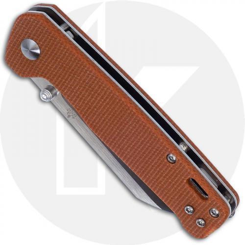 QSP Penguin Knife QS130-J - Satin D2 Sheepfoot - Tan Linen Micarta - Liner Lock Folder