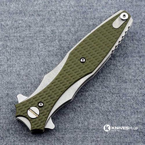 Hinderer Knives Maximus Bayonet Grind Knife - Stonewash Finish - OD Green G10 Handle