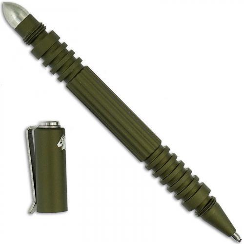 Hinderer Knives Investigator Pen - OD Green Hard Coat - Aluminum