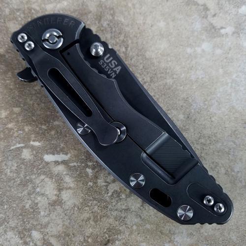 Rick Hinderer XM-18 Knife 3.5 Inch Battle Black Spear Point Green Black G10 Frame Lock Flipper Folder