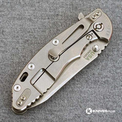 Hinderer Knives XM-18 3.5 Inch Knife - Gen 5 Sheepsfoot - Stonewash - OD Green G-10 Handle