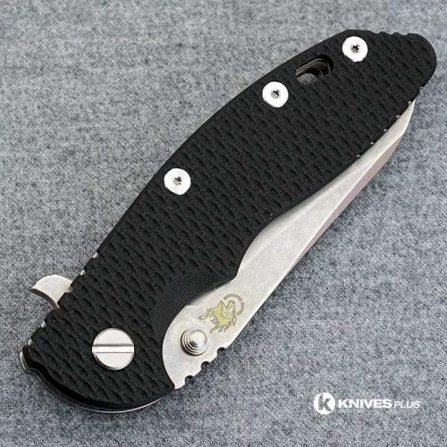 Hinderer Knives XM-18 3.5 Inch Knife - Gen 5 Sheepsfoot - Stonewash - Black G-10 Handle
