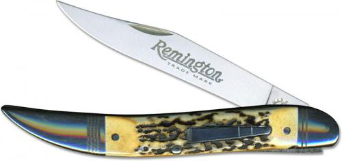 Remington R11043 2017 Bullet Knife - The Powderhorn India Stag R1613 Limited 1200 USA Made