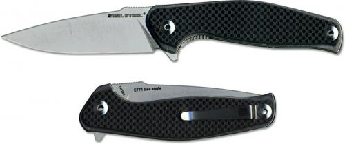 Real Steel 7151 Sea Eagle E771 EDC Liner Lock Flipper Knife G10 Carbon Fiber Laminate