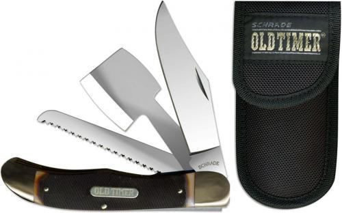 Old Timer Knives: Folding Hunter with Hatchet Old Timer Knife, SC-220OT