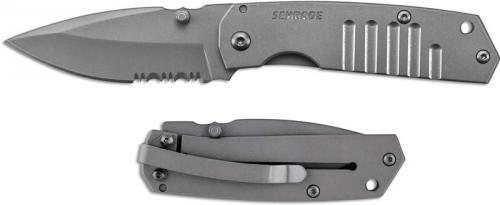 Schrade SCH304M Knife, Part Serrated, SC-304MS