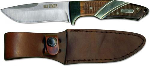 Old Timer 30OT Capybara Fixed Blade Drop Point Rosewood and Ebony Handle with Brass Detailing