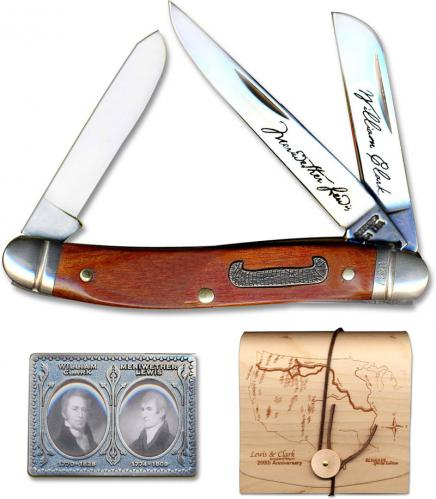 Schrade Lewis and Clark Commemorative 98LC - Limited Edition - Signature Stockman - USA Made - DISCONTINUED ITEM - OLD NEW STOCK - BNIB