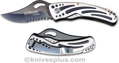 Schrade Knives: Schrade Avatar Knife, Black Blade, SC-AV77
