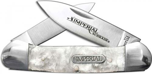 Schrade Imperial IMP1011 Small Canoe Pocket Knife Cracked Ice POM
