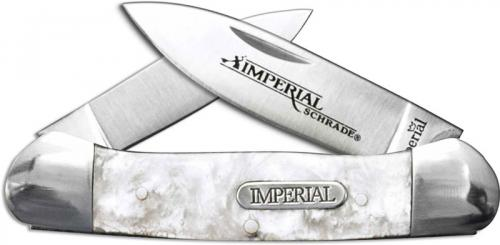 Schrade Imperial IMP11 Large Canoe Pocket Knife Cracked Ice POM