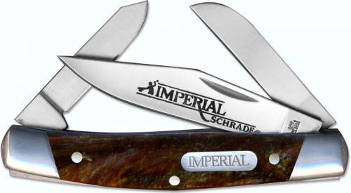 Schrade Imperial Medium Stockman, Amber Swirl, SC-IMP15S