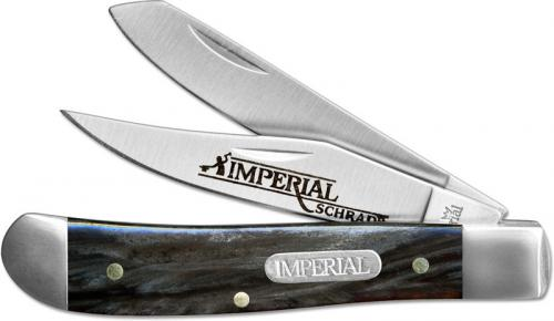 Schrade Imperial Mini Trapper, Dark Red Swirl, SC-IMP16T