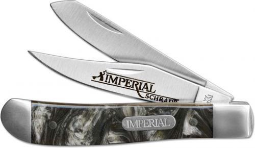 Schrade Imperial Mini Trapper, Olive Swirl, SC-IMP17T