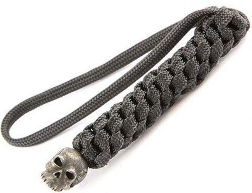 Schmuckatelli Lanyard - Classic Pewter Bead - Black Oxide Finish - Black Cord - 4.A-CBLBB