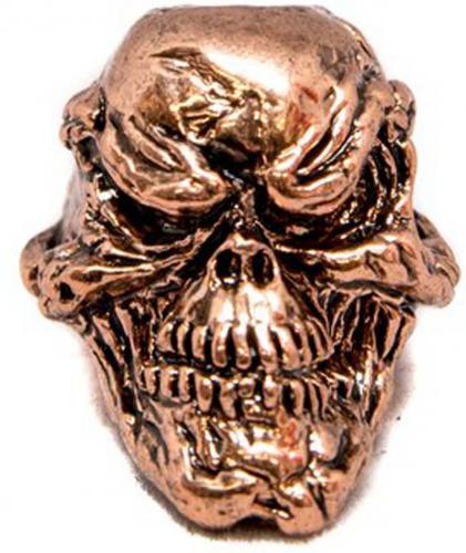 Schmuckatelli Grins Pewter Bead - Antique Copper Finish - GAC