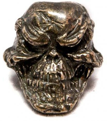 Schmuckatelli Grins Solid Bronze Premium Bead - Oil Rubbed Finish - GORBO