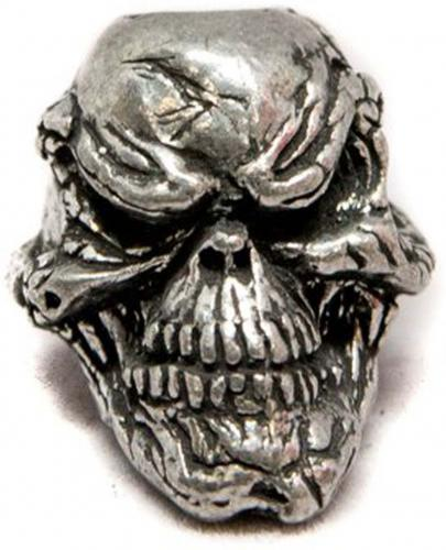 Schmuckatelli Grins Pewter Bead - Pewter Finish - GP