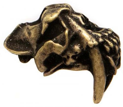 Schmuckatelli Sabretooth Pewter Bead - Roman Brass Oxidized Finish - STRBO
